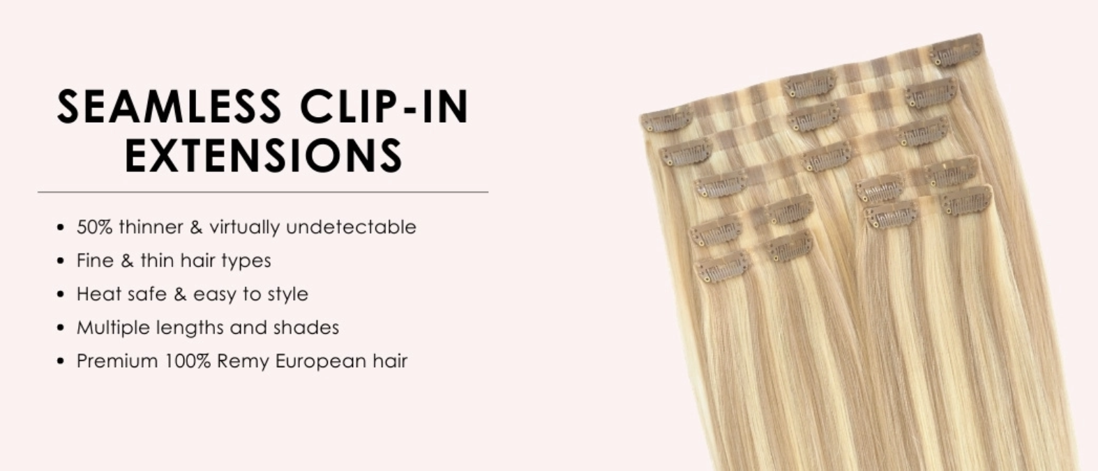 Cashmere Hair Seamless Clip-In Extensions